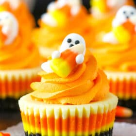 Mini Candy Corn Cheesecakes | Fun & Easy Halloween Food Idea