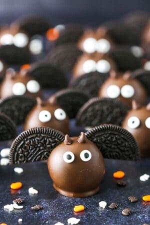 Bat Oreo Cookie Balls | Fun & Easy Halloween Party Food Idea