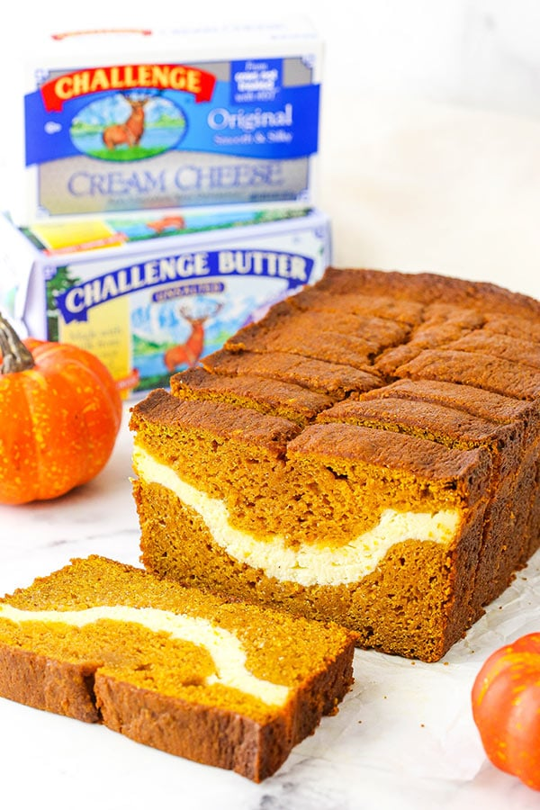 pumpkin bread with challenge butter