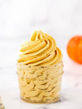 Photo of pumpkin buttercream frosting
