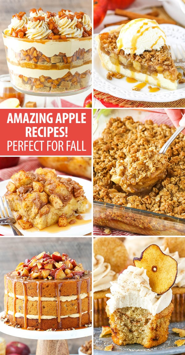 collage of apple recipes for fall