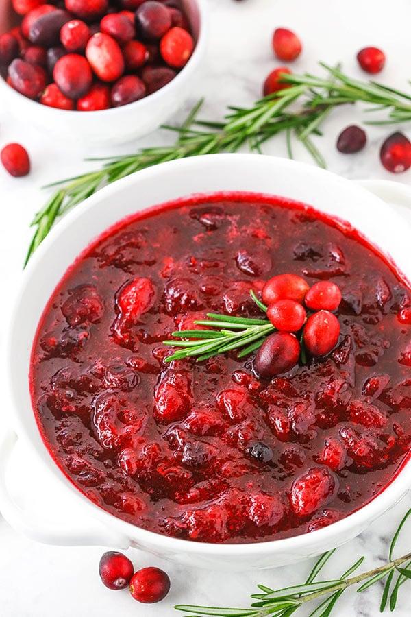 Easy 4 Ingredient Cranberry Sauce