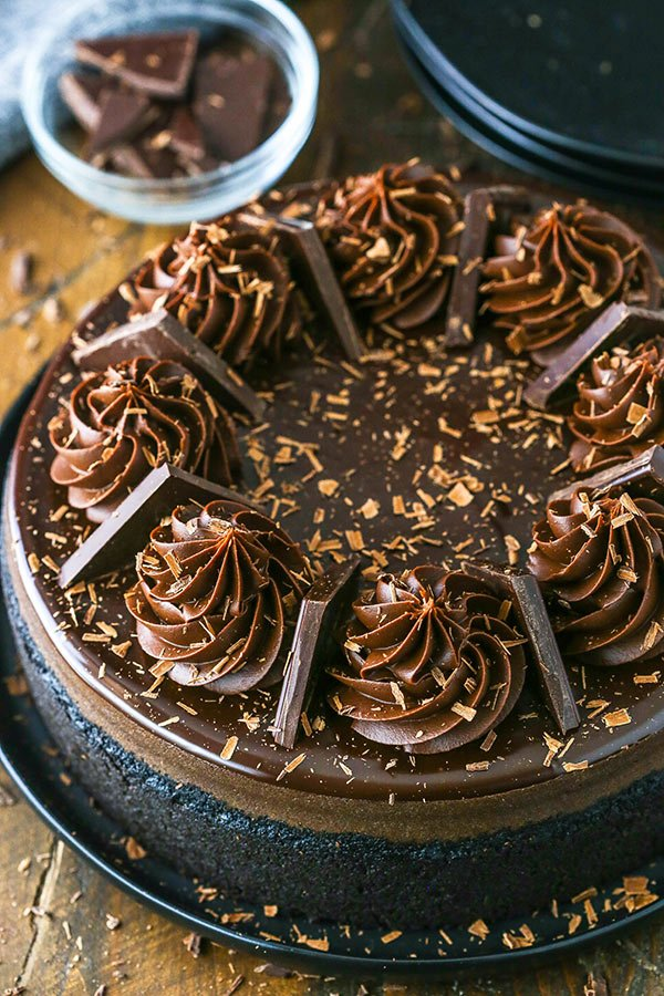 full dark chocolate cheesecake