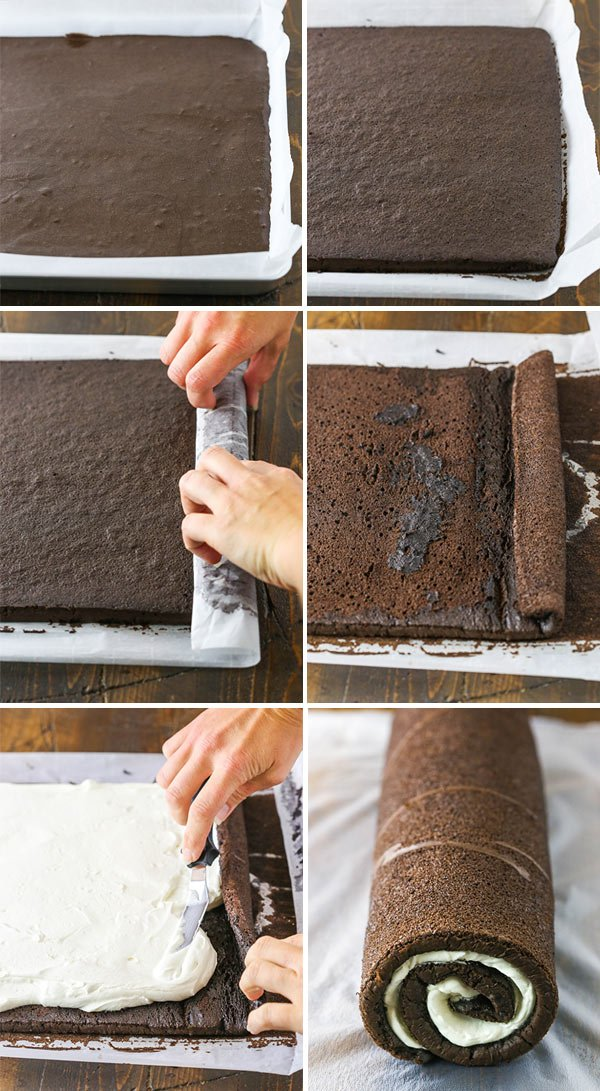 steps to making a yule log cake