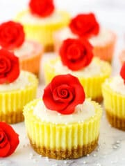 Photo of mini rose cheesecakes