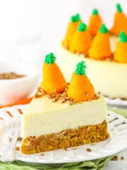 slice of carrot cake cheesecake recipe