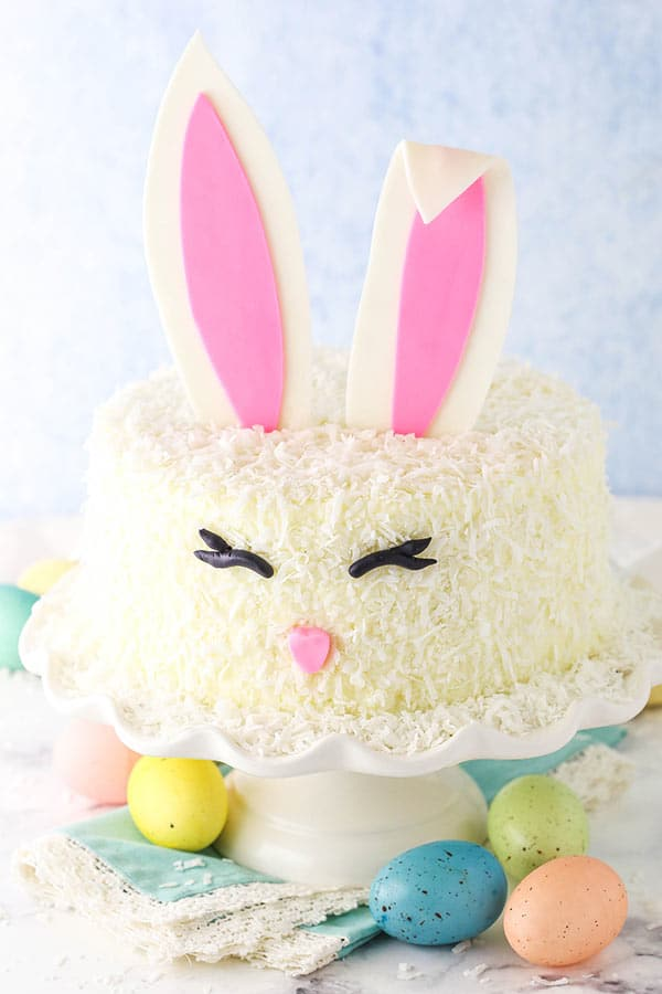 decorated easter bunny cake