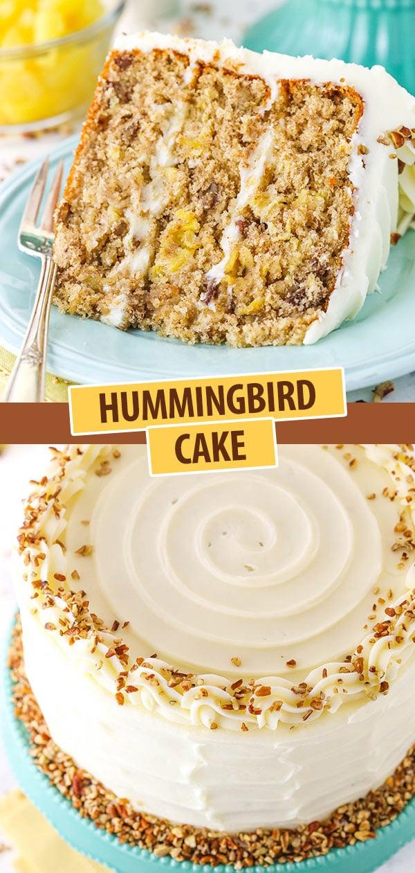 Pinterest image Hummingbird Cake
