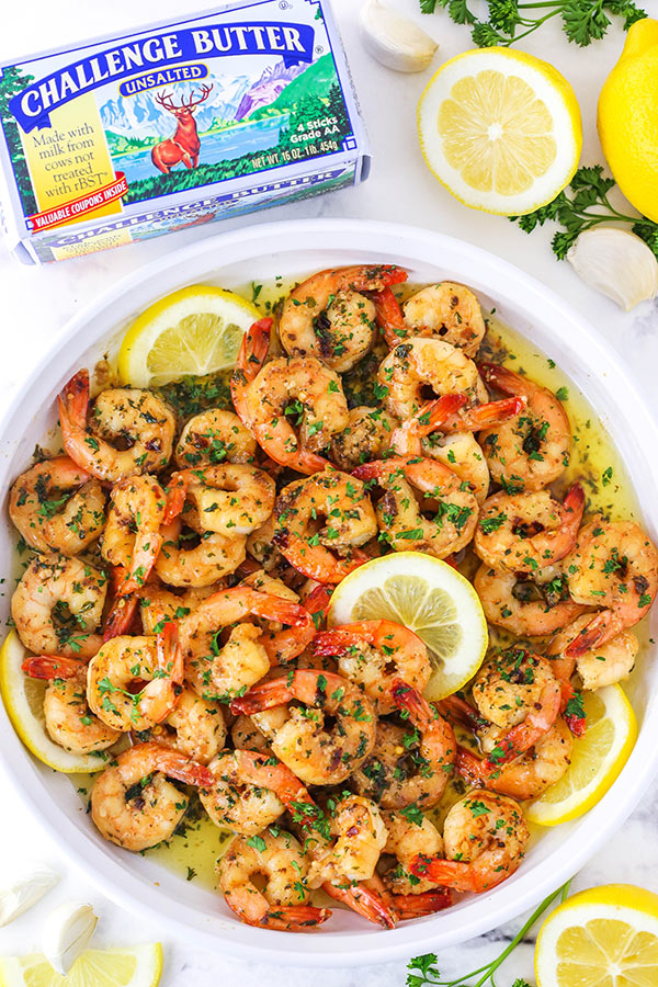 shrimp in a dish