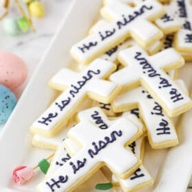 """Easter cutout cookies - """"He is Risen"""""""