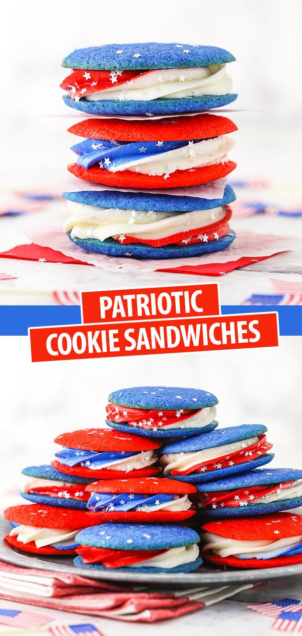 pinterest image of cookie sandwiches