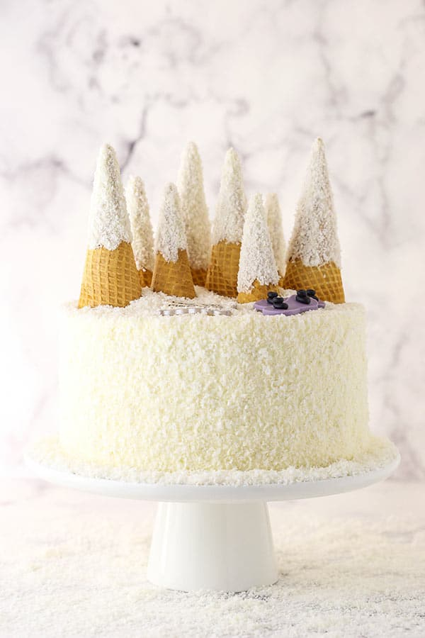 snowy mountain cake