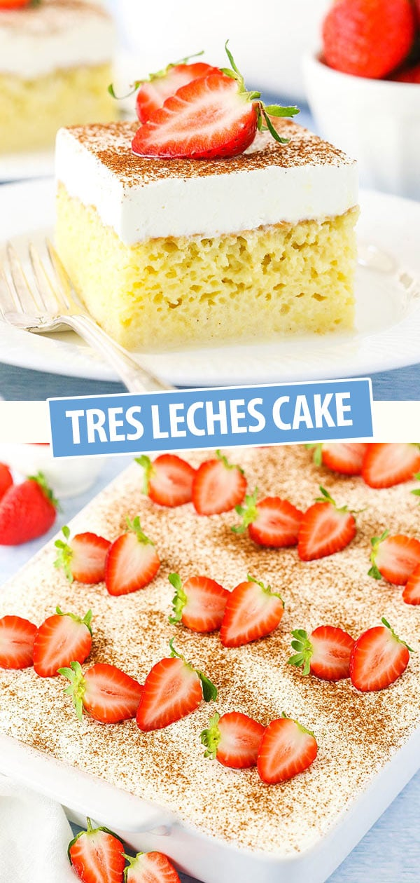 pinterest collage for tres leches cake
