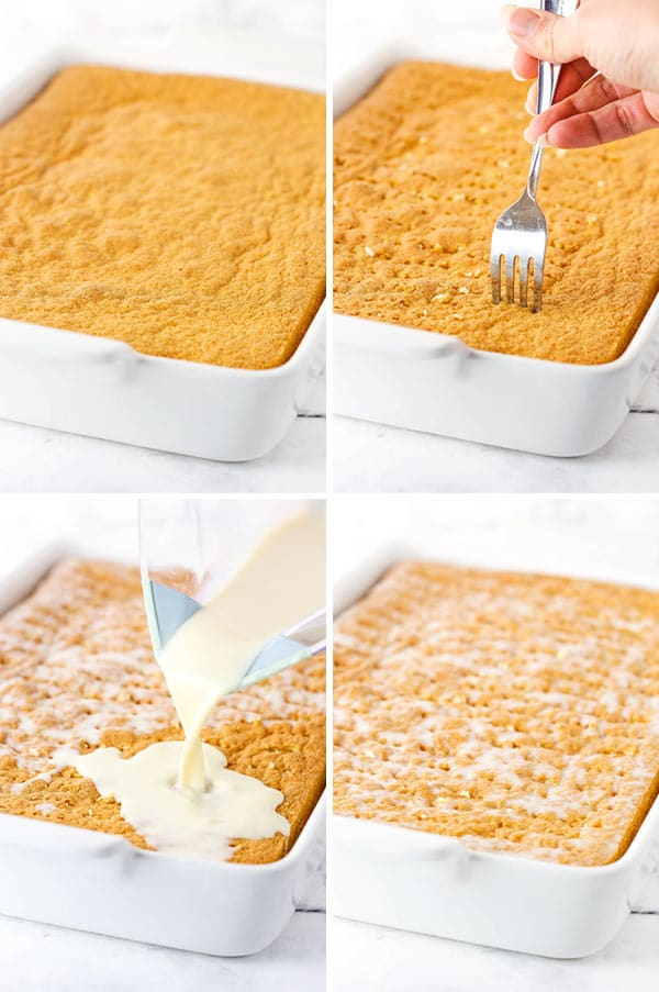 tres leches cake steps