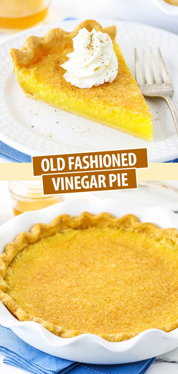 pinterest image for vinegar pie