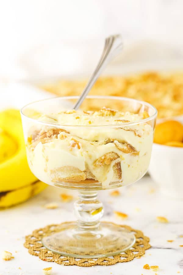 Homemade Banana Pudding in a Glass
