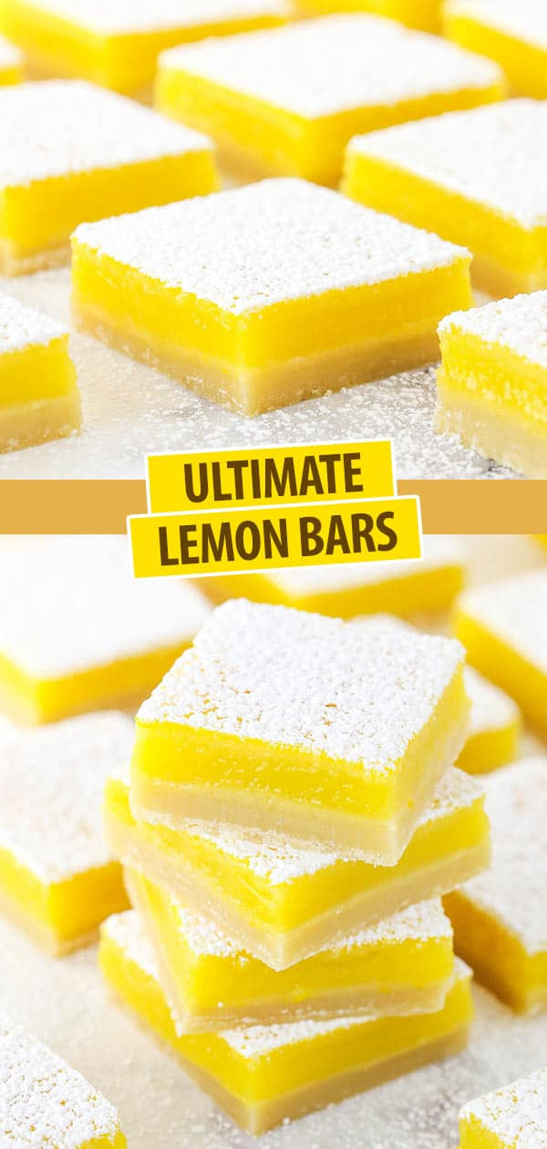 Collage of Easy Lemon Bars