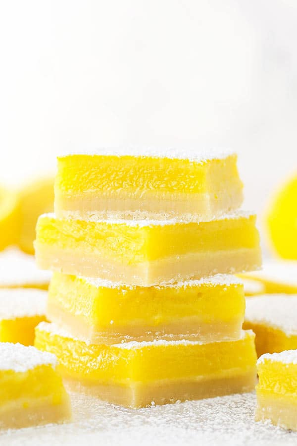 A Stack of Perfect Lemon Bars