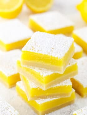 A Stack of The Best Lemon Bars