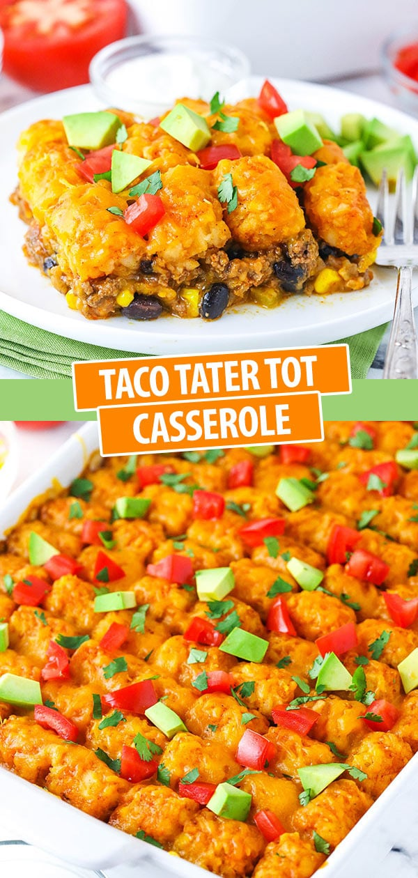 Pinterest Collage for Taco Tater Tot Casserole