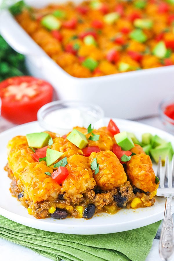 A Big Plate of Taco Tater Tot Casserole