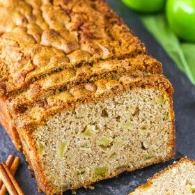 A Sliced Loaf of Cinnamon Apple Bread