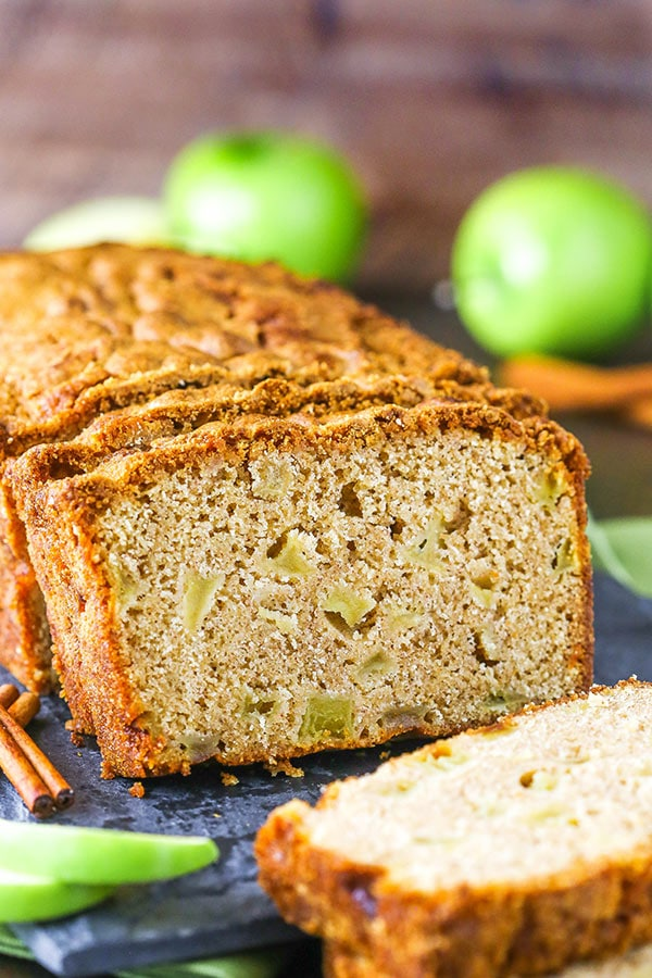 Slices of Homemade Cinnamon Apple Bread