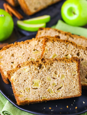 Slices of Apple Bread on a Plate