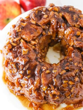 Apple Fritter Monkey Bread from Above