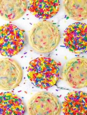 Twelve Sprinkle Sugar Cookies