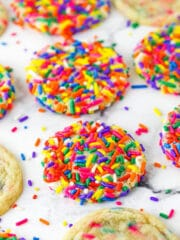 Sprinkle Sugar Cookies with Rainbow Sprinkles