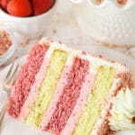 Strawberry Crunchy Layer Cake