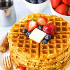 Fluffy Homemade Waffles Recipe   Life, Love & Sugar