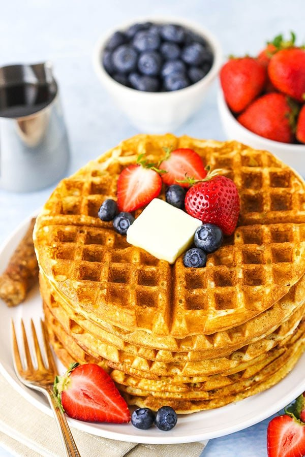 Fluffy Homemade Waffles Recipe | Life, Love & Sugar