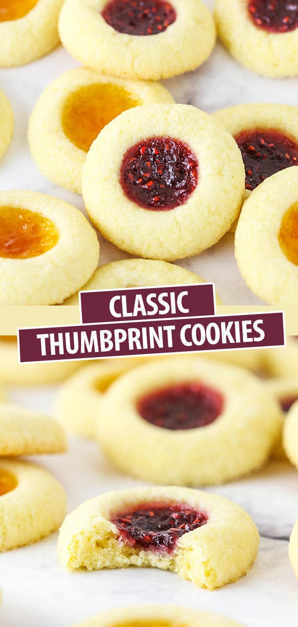 Classic Thumbprint Cookies Filled with Jam