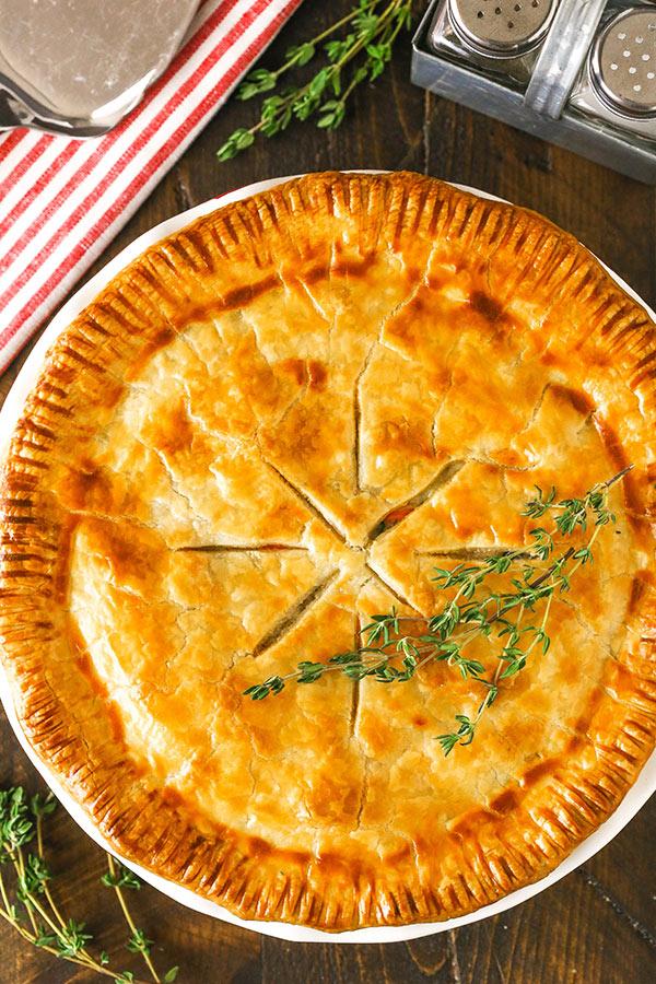 Full chicken pot pie