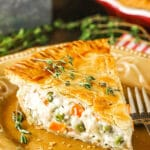 slice of chicken pot pie