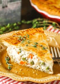 slice of chicken pot pie