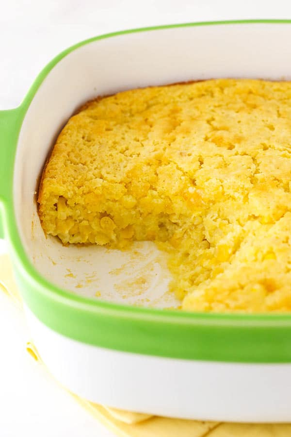 Creamy Homemade Cornbread in a Pan