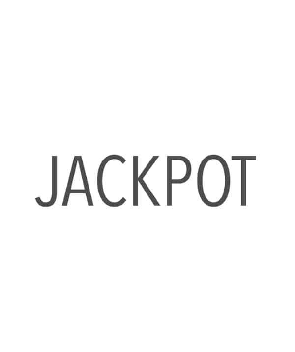 """A Plain White Background Behind Gray Text That Says """"Jackpot"""""""
