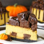 Copycat Chunkin' Chocolate Pumpkin Cheesecake