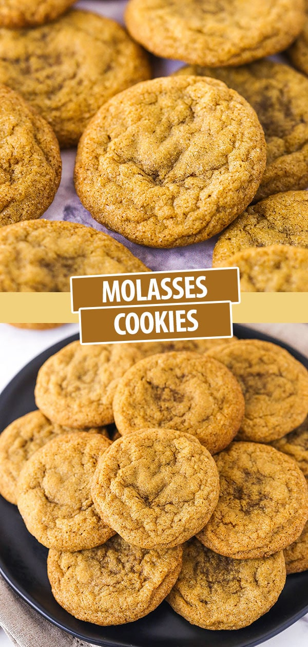 A Pile of Molasses Cookies on a Black Plate