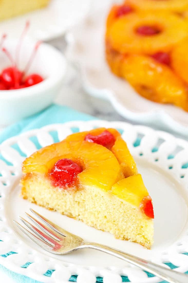 A slice of pineapple cake