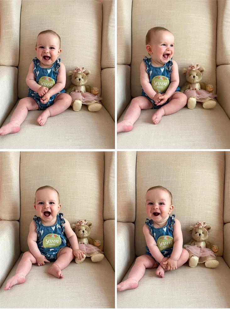 McKenzie's 7 month photos