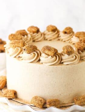 churro cake with churros on it
